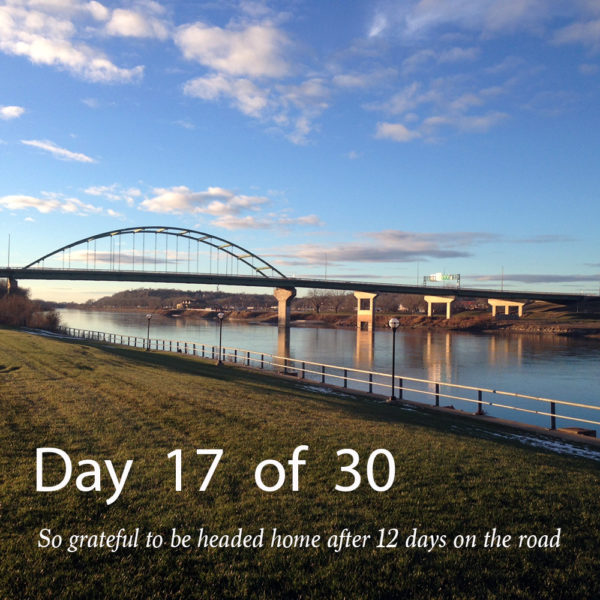Day 17 – ALL is in perfect order, whether at home or on the road