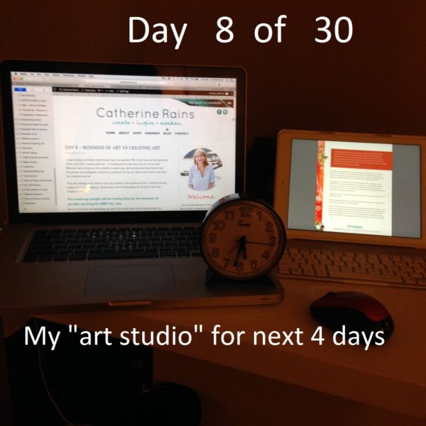 "Day 8 – Traveling ""art studio"""
