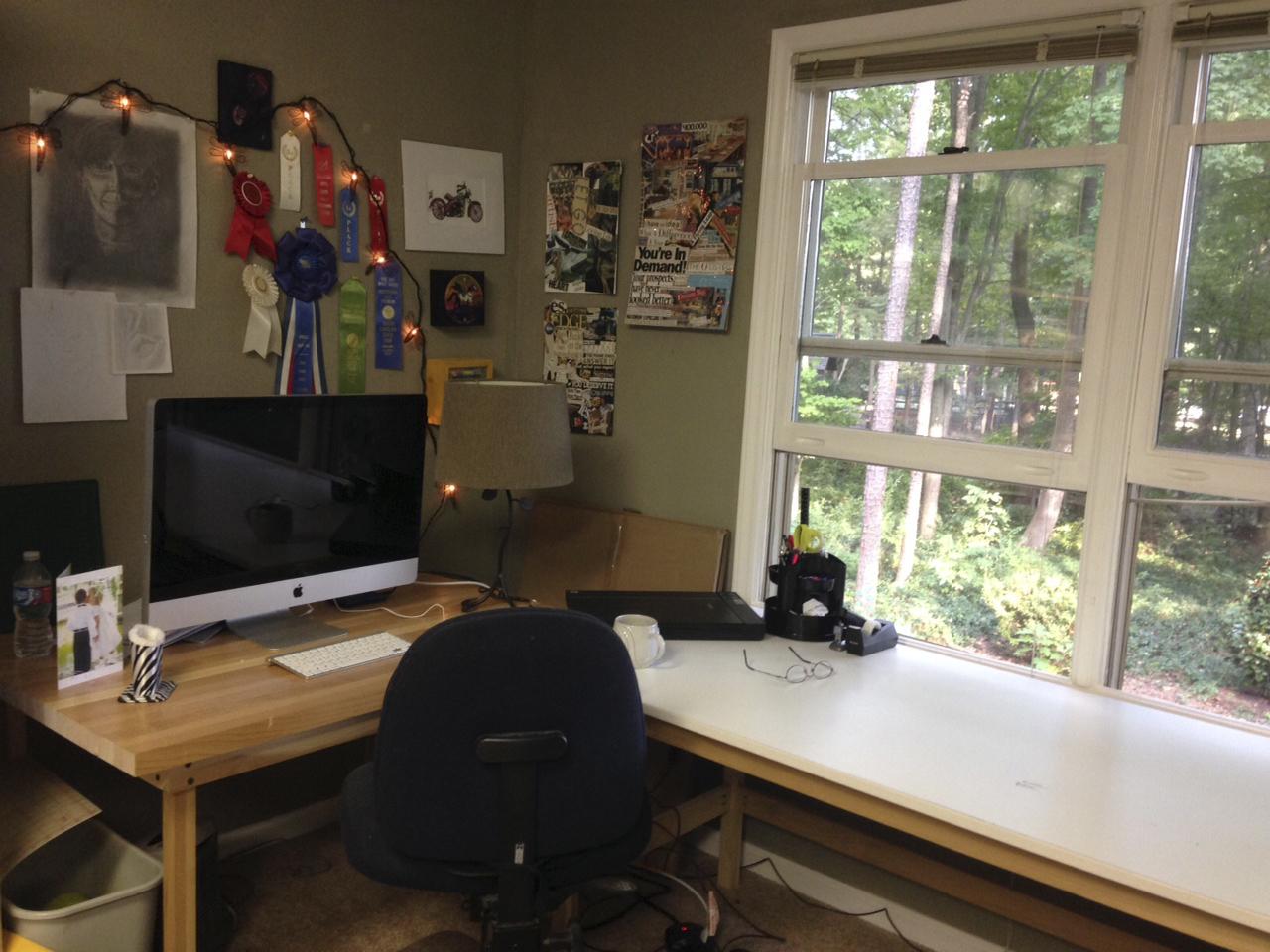 before - desk